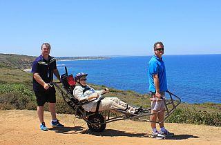 TrailRider All Terrain Wheelchair at the Apollo Bay Visitors Information Centre